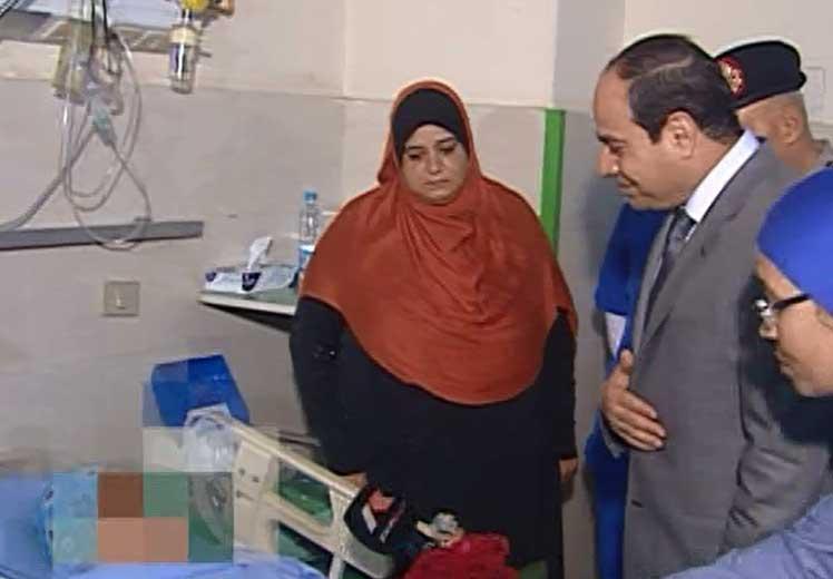 الرئيس عبد الفتاح السيسى يزور ضحية التحرش بالتحرير