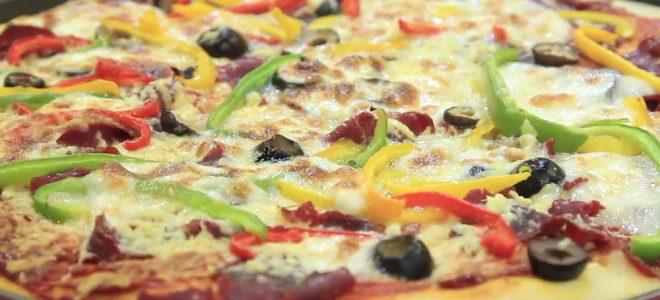 طريقة عمل بيتزا بالمشروم