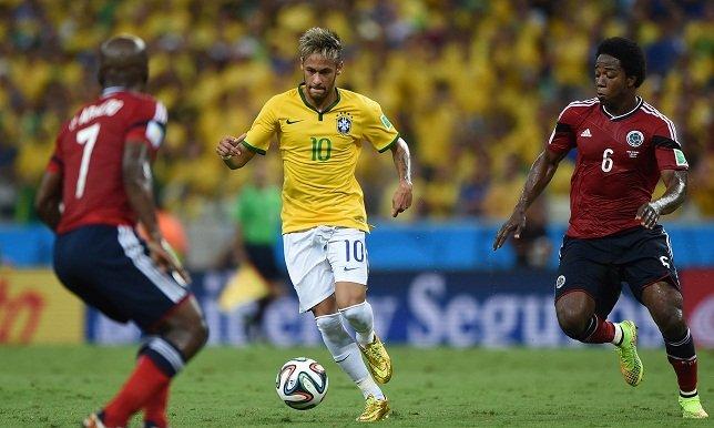مدافعو البرازيل يقصون كولومبيا ويواجهون ألمانيا
