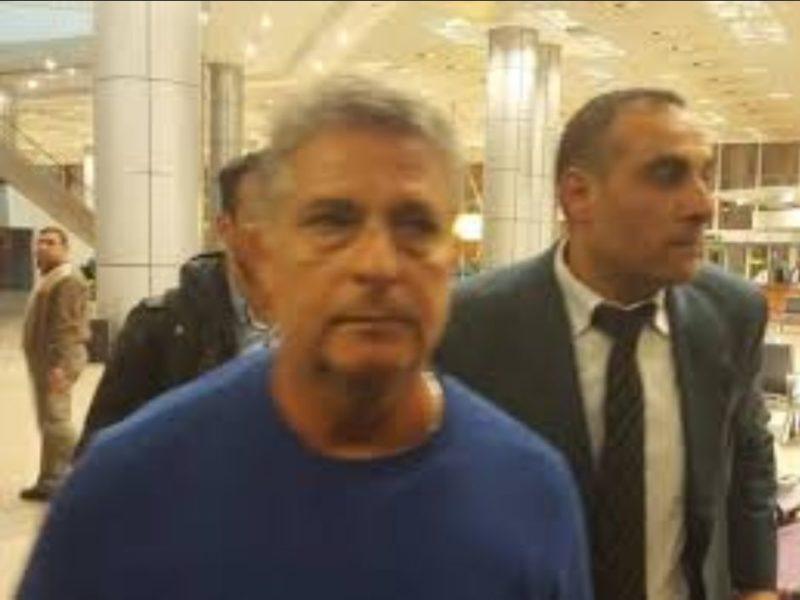 استقبال اسماعيل يوسف المدير الفنى الجديد لنادى الزمالك بمطار القاهرة الدولى