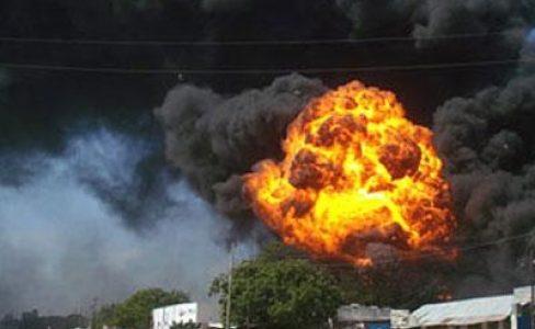 انفجار ضخم يضرب حي الضاحية في العريش
