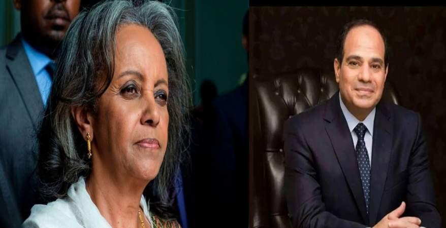"""السيسي يبعث """"برقيه تهنئه"""" إلى رئيسه إثوبيا الجديده"""