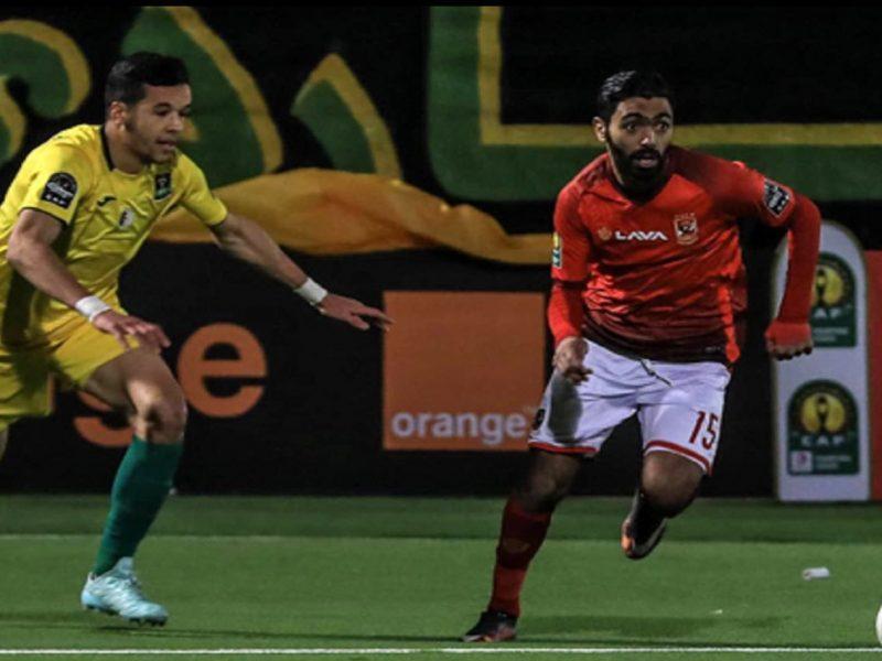النادي الأهلي يتأهل على حساب الساورة الجزائري بحفل الثلاثية